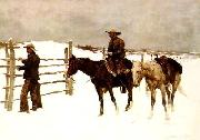 Frederick Remington The Fall of the Cowboy oil painting picture wholesale